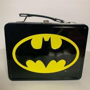 Batman tin lunchbox black and yellow old school